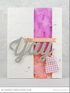 Barbara Anders | Yay–A New Baby! MFT January Card Kit, Yay for You Countdown Day Two