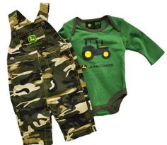 John Deere 2 Piece Layette Set Overalls and Onesie Camo Little Boy Outfits, Cute Outfits For Kids, Baby Boy Outfits, Cute Baby Boy, Baby Love, Cute Babies, Babies Stuff, John Deere Baby, Baby Jordans