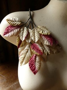 Velvet Leaves in Claret & Coffee for Bridal, Boutonierres, Bouquets, Millinery ML 128