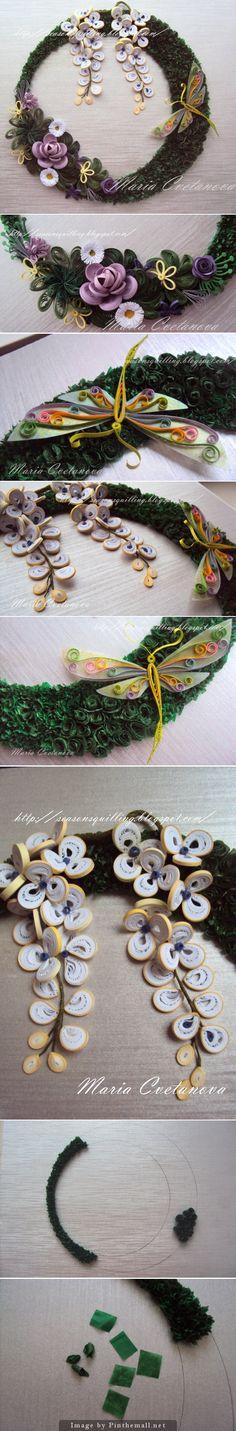 Quilled wreath tutorial