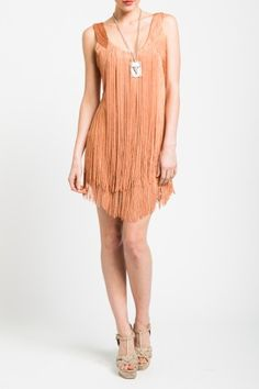 haute hippie fringe dress