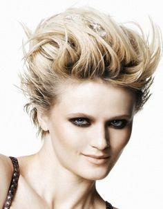 Short Rock Chic Hair Style 2014