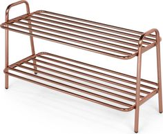 Alana Shoe Rack, Copper from Made.com. What's not to love about the copper trend? It complements so many colour schemes and styles, while adding a r.. Shoe Rack Copper, Outdoor Chairs, Outdoor Furniture, Outdoor Decor, Colour Schemes, Shoes, Home Decor, Style, Porch