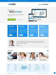 'Primechoice Design' #webdesign WordPress 3.x Template 45311 http://www.zign.nl/45311