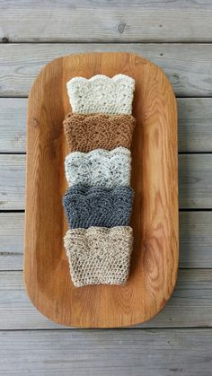 Items similar to Crocheted Lacey Boot Cuffs Boot Toppers faux leg warmer short boot knit socks on Etsy