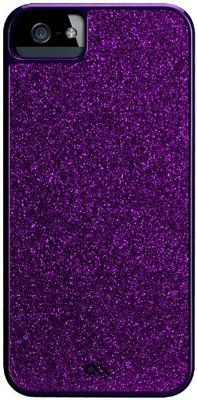 Case Mate Glam Glitter Purple 2 Piece Snap Case for New iPhone 5