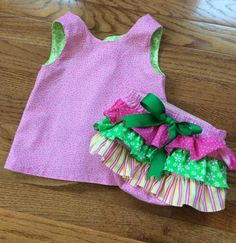 Open Back Baby Sundress and Ruffled Diaper by RufflesontheBottom