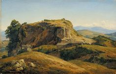 Theodore Rousseau - Hilly landscape, Auvergne, 1830