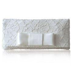 astrid bridal bow clutch by emma gordon london | notonthehighstreet.com