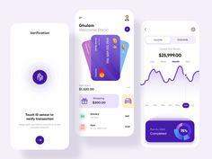 App Ui Design, Mobile App Design, Web Design, Finance, Mobile App Ui, Ui Design Inspiration, Apps, Kit, Design Projects