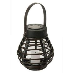 null Brown Mini Solar PVC Rattan Basket