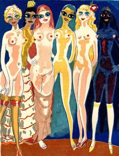 Kees van Dongen - Les six adolescents