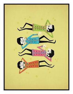 The Beatles - Sgt. The Beatles 1, Beatles Art, Music Illustration, Graphic Illustration, Cartoon Memes, Cartoon People, Beatles Sgt Pepper, Lonely Heart, Rock Bands