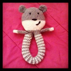 Chubby Teddy Bear Rattle by pennydreadfull