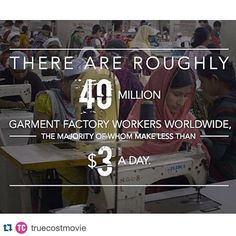 #Repost @truecostmovie: Why is it that this enourmous rapacious industry that is generating so much profit for a handful of people is unable to support millions of its workers properly? Why is it unable to keep them safe? Were talking about essential human rights here. Is it because it does not work properly that is my question. - Lucy Siegle #whopaystheprice #truecostmovie ... #littlelotustribe #sustainablefashion #fairtadefashion #fashionblog #slowfashion #fashionblogger #whomademyclothes…