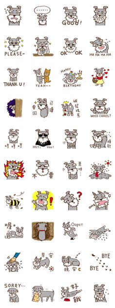 Schnauzer stickers
