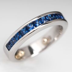 Vintage piece: Sapphire Band Ring! $1600. Nice!