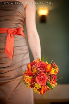 Fall Bouquet! roses, calla lillies, alstromeria, and red hypericum berry