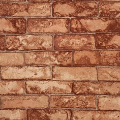 Sample of Rustic Brick Wallpaper in Soft Reds design by York Wallcoverings