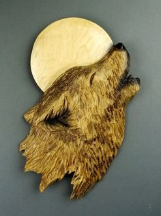 Wolf howling at the Moon Wolf embossed by Davydovart by DavydovArt