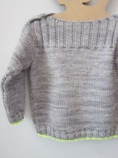 Sweater Techniques Series – Gramps Baby Cardigan – 4 / 6 : Top-Down Sweater Construction – Body and Arms Knitting Patterns Boys, Baby Sweater Patterns, Knitting For Kids, Knitting Designs, Free Knitting, Baby Pullover, Baby Cardigan, Diy Laine, Pull Bebe