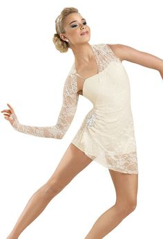 Lace Draped Short Unitard; Weissman Costumes- want this to b my costume next year