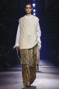 This season, he paid hommage to the decadence of the Marchesa Casati, an Italian patroness of the arts in the early 20th century, who had a penchant for all things purry – leopard p...