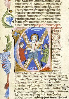 Isaiah: Martyrdom in initial U | Bible | Italy, Padua | ca. 1287-1300 | The Morgan Library & Museum