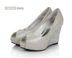 Wedding Shoes Wedges | wedge-heel-beading-open-toes-leatherette-black-bridal-wedding-shoes-4 ...
