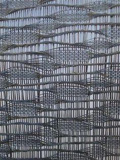 Laura Labrin's woven tape art