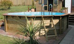 wooden surround for intex pool - Google Search
