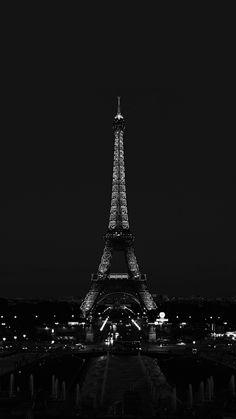 Paris Night France City Dark Eiffel Tower iPhone 6 wallpaper