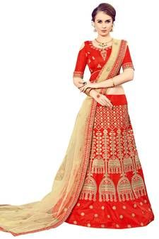 Best Discounts & Offers on Mirraw Red Lehengas Studio Background Images, Red Lehenga, Dupion Silk, Embroidered Silk, Red Color, Red Velvet, Hand Weaving, Sari, Vintage