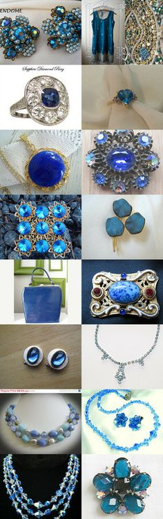 Vintage Blues by Laura Wende on Etsy--Pinned with TreasuryPin.com