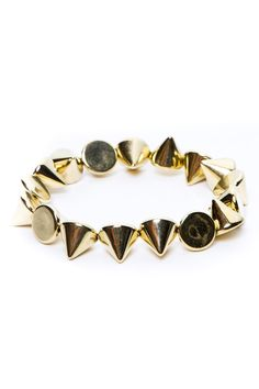 [$4.00] gold studs bracelet from Brandy Melville