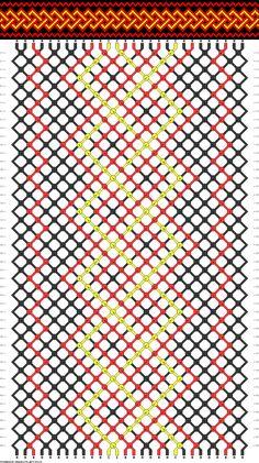 friendship bracelet pattern ● 28 strings ● 3 colors ● A(17), B(8), C(3)