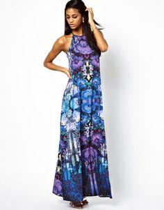 Image 4 ofASOS Graphic Floral Maxi Dress