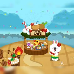 Cute Couple Art, Cute Couples, Line Cony, Cony Brown, Cute Love Cartoons, Line Friends, My Pokemon, Sanrio Characters, Cute Cards