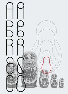 Russian Dolls Font Free by Vladimir Belokon, via Behance