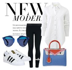New modern by paulina-932-7 on Polyvore featuring polyvore, fashion, style, rag & bone, adidas, Fendi, Christian Dior, modern and clothing