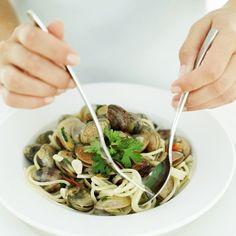 20 receitas de macarrão - Espaguete ao vôngole