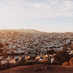 illusionwanderer:  Sunset over Bernal Heights, San Francisco by condenasttraveler