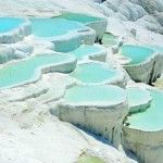 Natural Springs in Pamukkale, which is close to Denizili, Turkey. would love to swim in that.