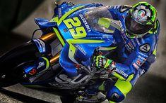 Download wallpapers Suzuki GSX-RR, 4k, 2018 bikes, superbikes, MotoGP, Andrea Iannone, Team Suzuki Ecstar, Suzuki