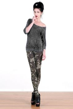 Grunge Camo Printed Leggings by PhilamentCollective on Etsy, $26.00