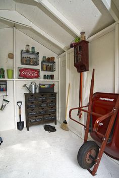 Just some more ideas for shed storage organization.