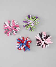 Take a look at this Festive Pin Dot & Zebra Korker Bow Clip Set by Dress Up Dreams Boutique on #zulily today!
