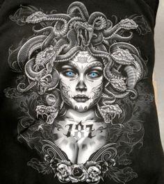 Medusa Tattoo Print