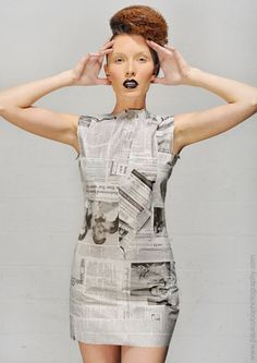 Recycled Fashion by Chantal Sauvignon, via Behance