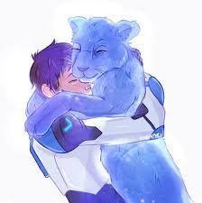 Lance and his realistic sparkling Blue Lion from Voltron Legendary Defender Voltron Klance, Voltron Fanart, Form Voltron, Voltron Ships, Power Rangers, Dreamworks, Samurai, Lance Mcclain, Robot Lion
